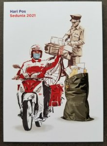 Malaysia World Post Day 2021 Postman Vehicle Motorcycle Bicycle (postcard) MNH