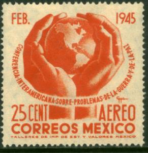 MEXICO C143, 25c Conference on War & Peace. Mint NH. F-VF.