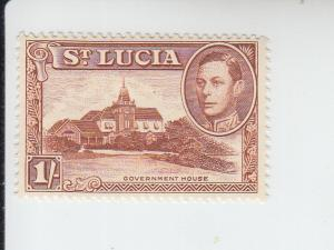 1948 St Lucia KGVI Government House (Scott 121a) MLH