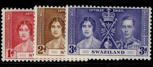 SWAZILAND GVI SG25-27, CORONATION set, NH MINT.