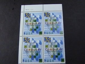 US # 3106-MINT/NEVER HINGED--UL--PLATE # BLOCK OF 4--COMPUTER TECH--1996