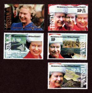 Tristan da Cunha 508-512 Mint NH MNH 40th Anniversary Accession!