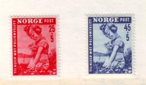 Norway ScB48-9 1950 Polio Child Flowers stamps mint NH
