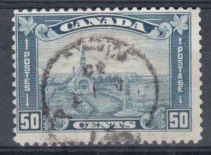 Canada Scott #176 50 cent Grand Pre, NS Acadian Church KGV Leaf HCV
