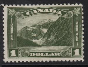 CANADA SG303 1930 $1 OLIVE-GREEN MTD MINT