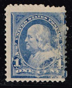 US STAMP #246 1894 1¢ Franklin MH/OG scraped