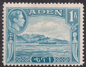Aden 1939 - 48 KGV1 1 Anna Pale Blue MM SG 18 ( J632 )