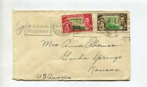 South Rhodesia to USA 1937 cover - Nice