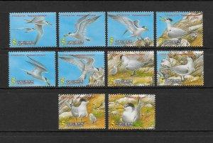 BIRDS - CHINA-REP #3424a-j  MNH