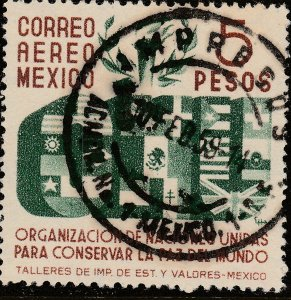MEXICO C160, $5P Honoring the United Nations. USED. VF (606).