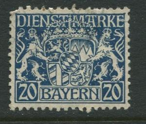 Bavaria -Scott O14- Coat of Arms -1916-17 - Used - 20pf Stamp
