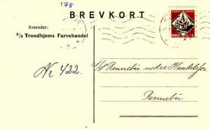 Norway 15o Trondheim Cathedral 1931 Nidaros Postcard to Rennebu.