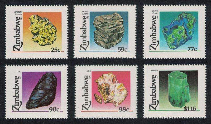 Zimbabwe Minerals 6v SG#844-849