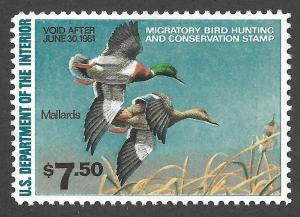 Doyle's_Stamps: Mint/NH 1980 $7.50 Federal Duck Stamp Scott #RW47**
