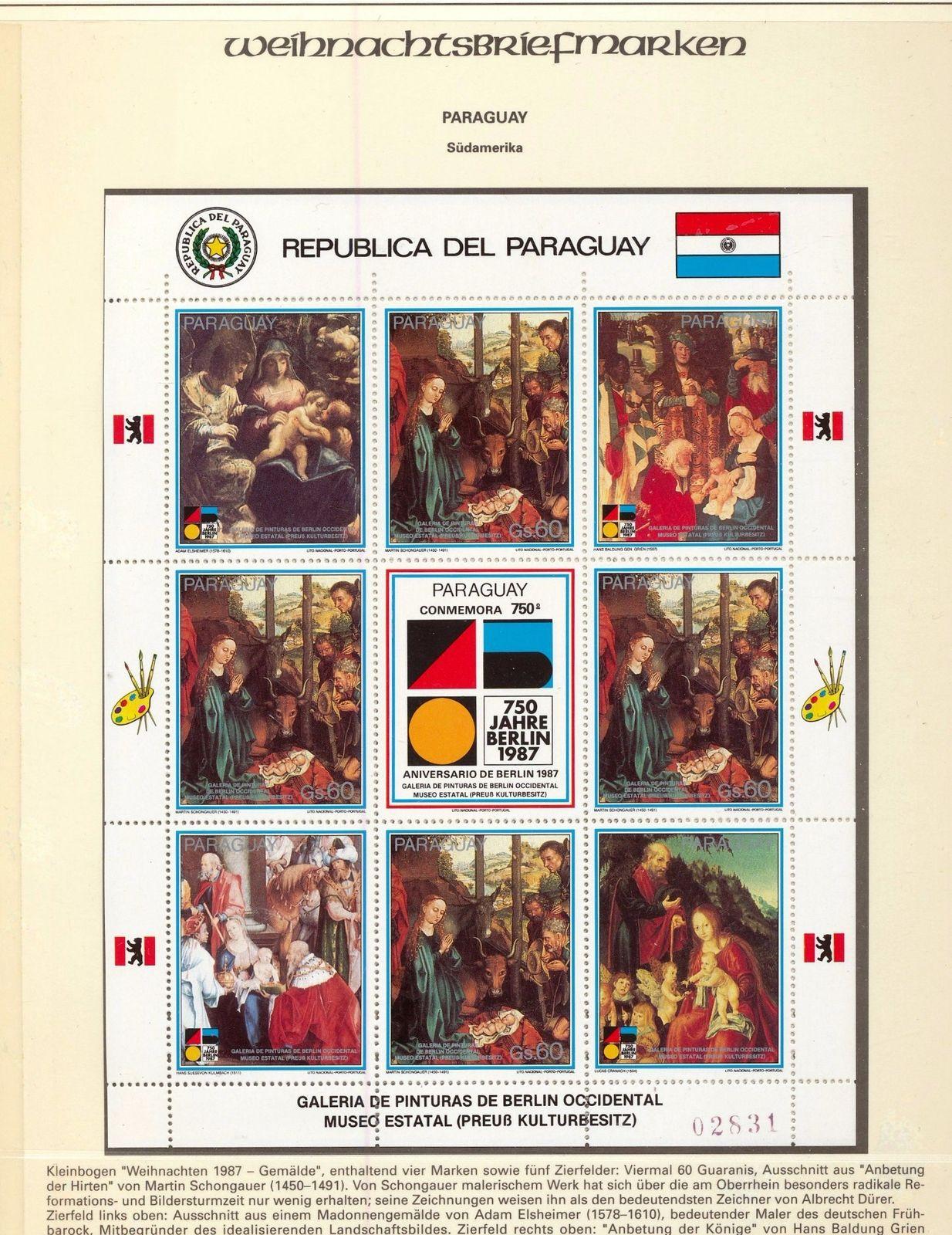 Paraguay Nauru Germany Senegal Religion Christmas MNH(45+)(job 846
