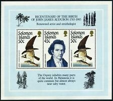 Solomon Islands #556 s/sheet F-VF Mint NH ** John James Audubon, Osprey