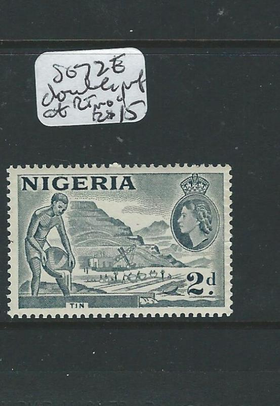 NIGERIA (P0706B) QEII 2D  SG723  DOUBLE PERF AT RIGHT  MOG