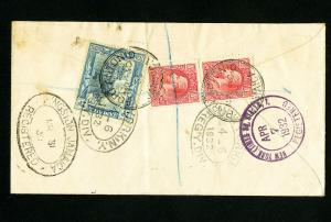 Jamaica Stamps Rare Registered Cover from Port Antonio Backstamped