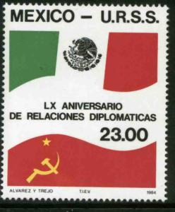 MEXICO 1358, Diplomatic Relations with the USSR. MINT, NH. F-VF.