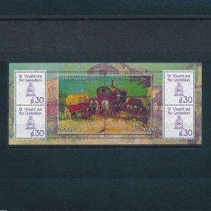 [106668] St. Vincent & Gren. 2009 Art paintings Van Gogh gypsy Arles Sheet MNH