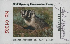 WYOMING #35 2018 STATE CONSERVATION / DUCK STAMP ARTIST SIGNED by Justin Hayward