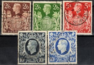 Great Britain #249-51A  F-VF Used CV $39.50  (X2815)