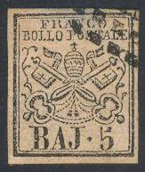 Roman States 6 Used - Coat of Arms