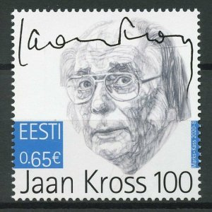 Estonia Famous People Stamps 2020 MNH Jaan Kross Poets Writers 1v Set