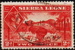 Sierra Leone. 1938 2d S.G.191a Fine Used