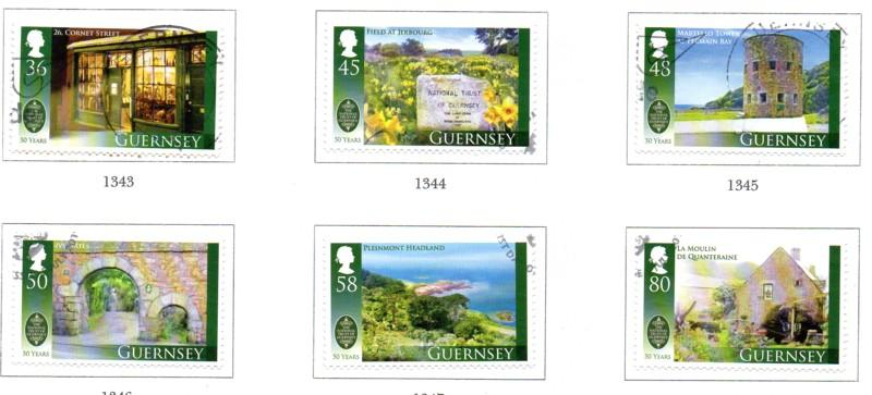 Guernsey Sc 1092-7 2010 National Trust stamp set used