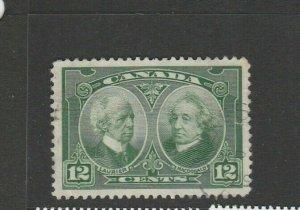 Canada 1927 Confederation Historical issue 12c FU SG 272