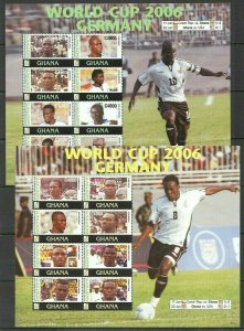 QD0923 2006 GHANA TEAM FOOTBALL WORLD CUP GEMANY #3839-54 MICHEL 19 EURO 2KB FIX