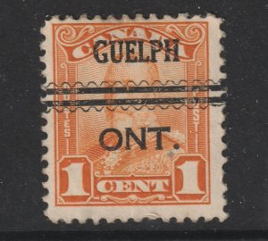 Canada a KGV orange 1c with Guelph pre cancel