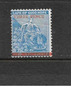 CAPE OF GOOD HOPE 1879   3d on 4d    BLUE    MH   SG 34