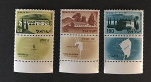Israel 1960 #165-67 See Note-Tab, MNH