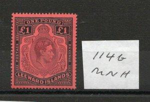 LEEWARD ISLANDS £1 SG114b superb MNH condition.