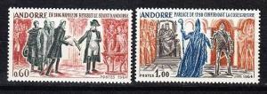 French Andorra Scott 159-160 Mint NH (Catalog Value $45.00)