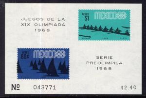 Mexico C336a Summer Olympics Souvenir Sheet MNH VF