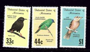 Micronesia C34-36 MNH 1988 Birds