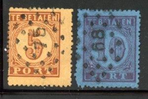 Netherlands Antilles # J1-2, Used. CV $ 35.00