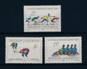 [56407] Liechtenstein 1988 Olympic games Skiing Bobsleigh MNH