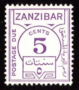 Zanzibar Scott J18 Mint never hinged.