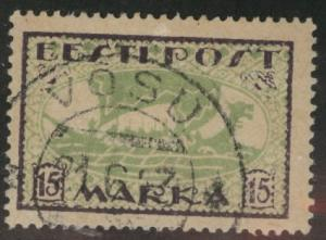 Estonia Scott 76 from 1922 perforated Viking Ship type