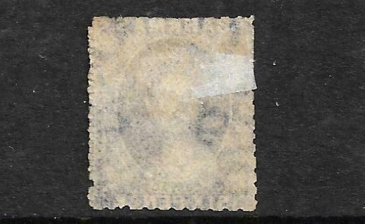 BAHAMAS 1883  4d on 6d DEEP VIOLET  QV FU   SG 45