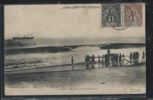 GABON (PP2709B) 1908 PPC TO FRANCE