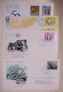 EL SALVADOR  5 DIFF. FDC 1976-1995 CACHET ADDRESSED