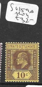 MALAYA STRAITS SETTLEMENTS   (P1105B)  KE  10C  SG 159A    MOG