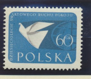 Poland Stamp Scott #867, Mint Never Hinged