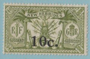 NEW HEBRIDES 36 MINT HINGED OG * NO FAULTS EXTRA FINE !
