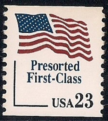 2605 23 Cents Flag Presorted First Class Coil Mint OG NH XF